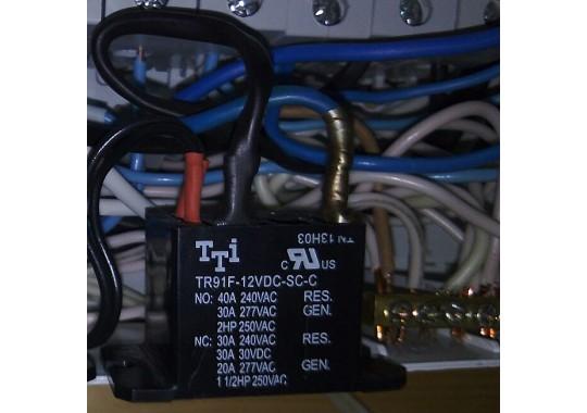Установка реле 250В, 40А для управления ИУ