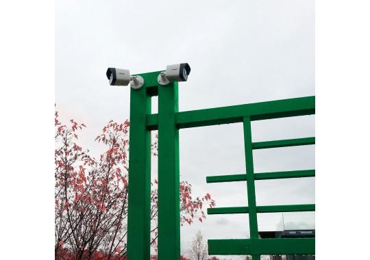 Монтаж и подключение уличной видеокамеры