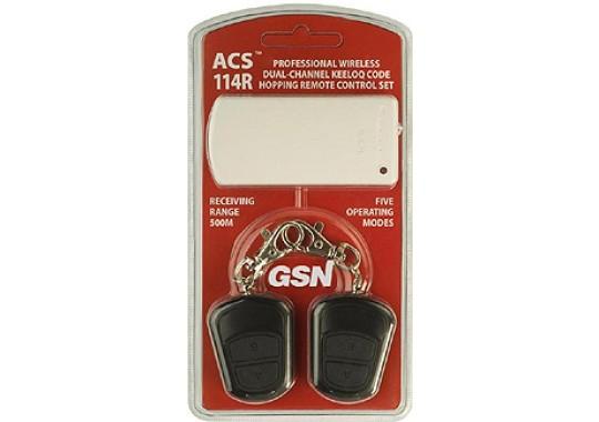 ACS-114R комплект 2-х канальный приёмник + 2 брелока