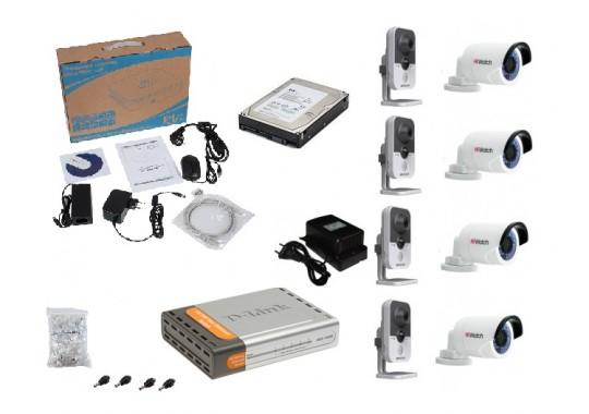 Бюджетный комплект IP видеонаблюдения в HD качестве на 8 видеокамер
