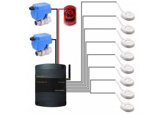 Комплект защиты от протечек воды на основе GSM контроллера CCU825.