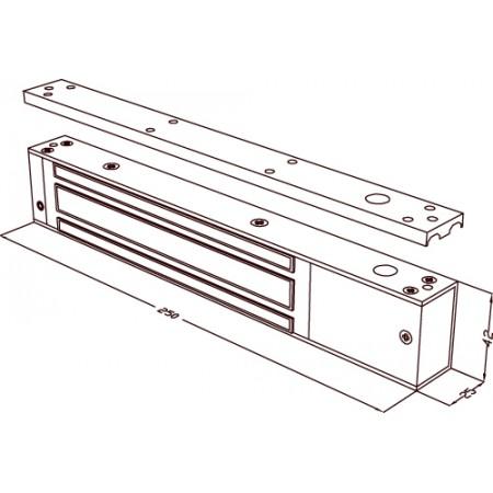 ML-295AL электромагнитный замок усилие 280кг c платой управления