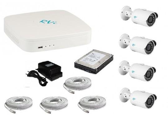 Бюджетный комплект CCTV видеонаблюдения в 960H качестве на 4 уличные видеокамеры