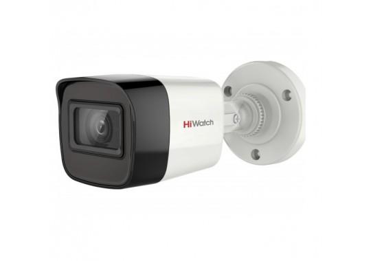 DS-T200A уличная цилиндрическая HD-TVI видеокамера с EXIR-подсветкой до 30 м и микрофоном