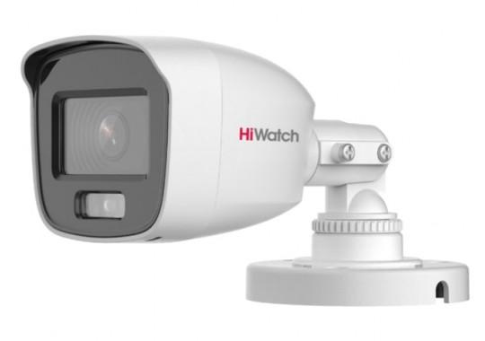 DS-T200L уличная цилиндрическая HD-TVI видеокамера с LED-подсветкой до 20м и технологией ColorVu
